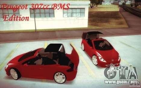 Peugeot 307CC BMS Edition para ordenadores portá para GTA San Andreas