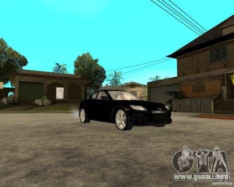 Mazda RX-8 para GTA San Andreas vista hacia atrás