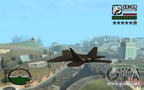 Hydra, Panzer mod para GTA San Andreas sucesivamente de pantalla