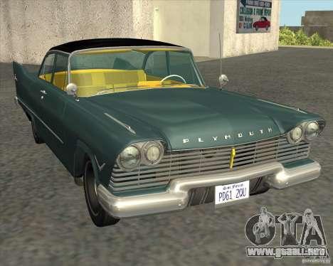 Plymouth Savoy 1957 para GTA San Andreas