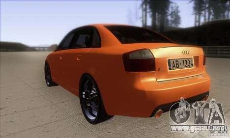 Audi S4 DIM para GTA San Andreas vista posterior izquierda