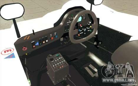 BMW V12 LeMans - Stock para la vista superior GTA San Andreas