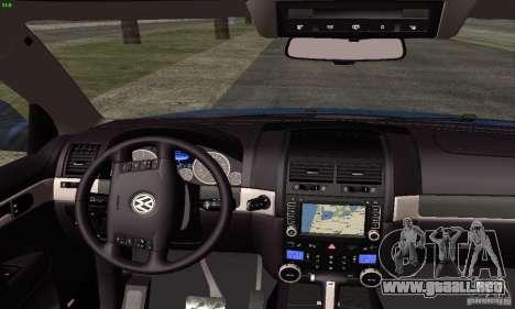 VolksWagen Touareg R50 JE Design Tuning para la visión correcta GTA San Andreas