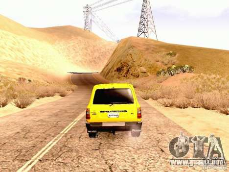 Toyota Land Cruiser 80 Off Road Rims para la visión correcta GTA San Andreas