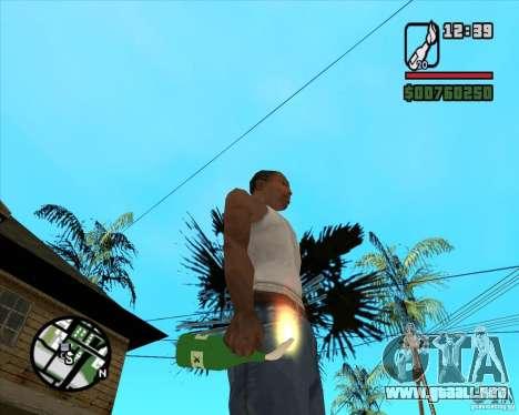 RiCkys Molotov Cocktail para GTA San Andreas segunda pantalla