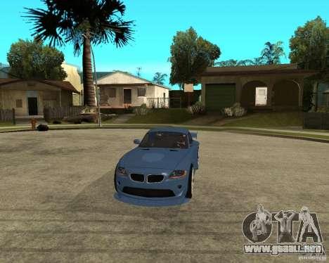 BMW Z4 Supreme Pimp TUNING volume I para visión interna GTA San Andreas