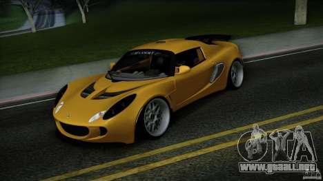 Lotus Exige Track Car para GTA San Andreas vista hacia atrás