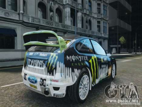 Ford Focus RS WRC para GTA 4 left