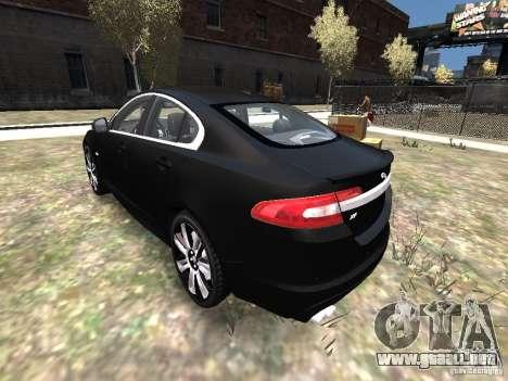 Jaguar XFR para GTA 4 Vista posterior izquierda