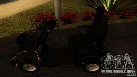 Elektroscooter - Speedy para la visión correcta GTA San Andreas
