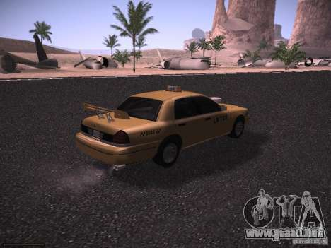 Ford Crown Victoria Taxi 2003 para vista lateral GTA San Andreas