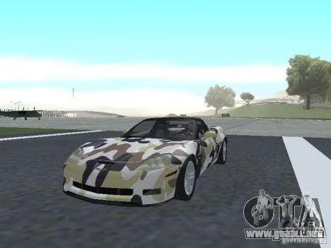 Chevrolet Corvette Z06 para GTA San Andreas interior