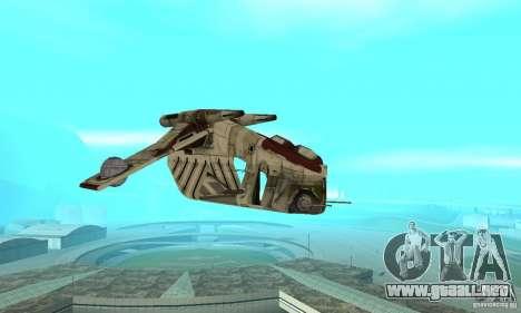 Cañonera de la República de Star Wars para GTA San Andreas vista hacia atrás