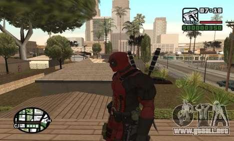 Dead Pool para GTA San Andreas sucesivamente de pantalla