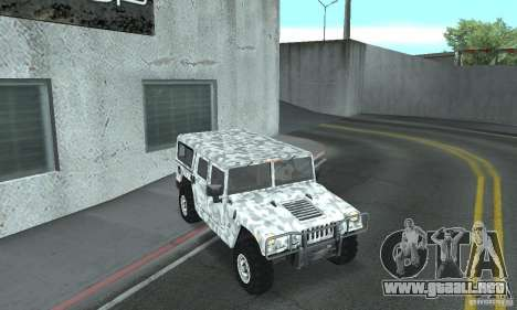 Hummer H1 para vista inferior GTA San Andreas