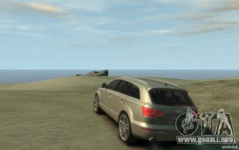 Audi Q7 para GTA 4 Vista posterior izquierda