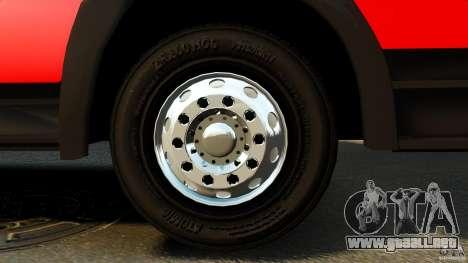 Mercedes-Benz Atego FPTGP Sapeurs Pompiers ELS para GTA 4 vista hacia atrás