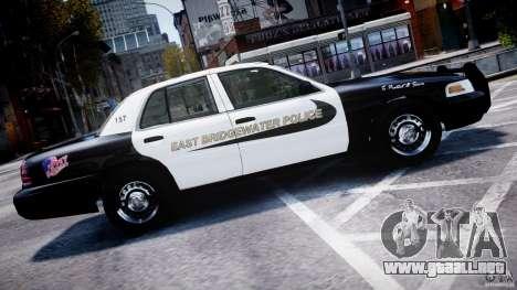 Ford Crown Victoria Massachusetts Police [ELS] para GTA 4 left