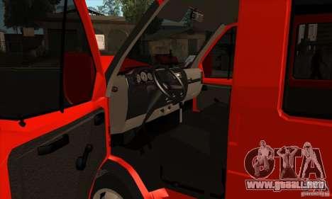 Gacela 2705 carga pasajeros para visión interna GTA San Andreas