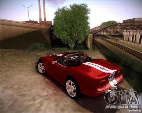 Shelby Series One 1998 para la visión correcta GTA San Andreas