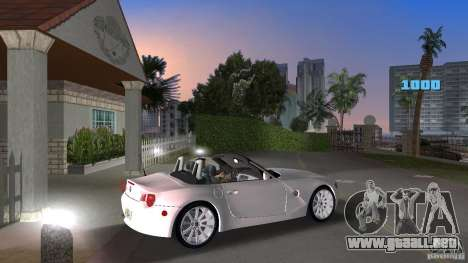 BMW Z4 2004 para GTA Vice City visión correcta
