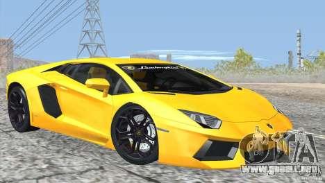 Lamborghini Aventador LP700-4 2012 para la vista superior GTA San Andreas