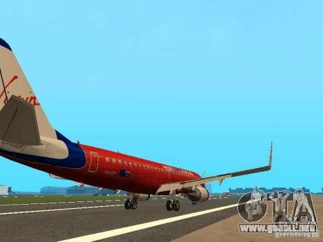 Embraer ERJ 190 Virgin Blue para la visión correcta GTA San Andreas
