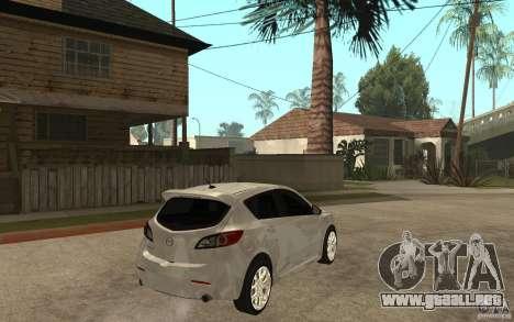 Mazda 3 Mazdaspeed 2010 para la visión correcta GTA San Andreas