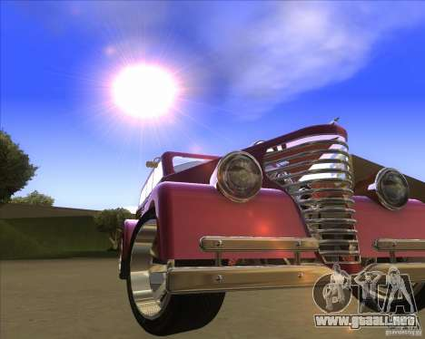 Custom Woody Hot Rod para GTA San Andreas vista hacia atrás