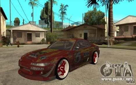 Nissan Silvia HKS Genki para GTA San Andreas