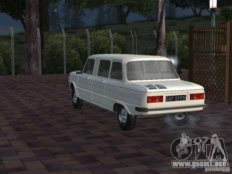 ZAZ 968 m Limousine para GTA San Andreas vista hacia atrás