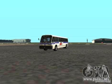 GMC RTS MTA New York City Bus para GTA San Andreas left