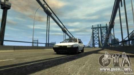 VAZ 2109 luz tuning para GTA 4 vista hacia atrás