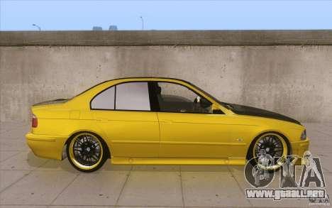 BMW M5 E39 - FnF4 para visión interna GTA San Andreas