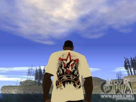 Camiseta NoGGano228 y AK 47 para GTA San Andreas tercera pantalla