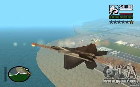 Hydra, Panzer mod para GTA San Andreas quinta pantalla