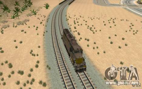 Clinchfield SD40 (Yellow & Grey) para la visión correcta GTA San Andreas