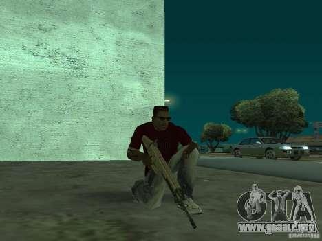 FN Scar-L HD para GTA San Andreas quinta pantalla