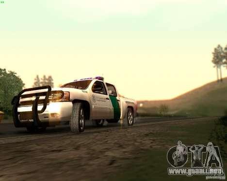 Chevrolet Silverado Police para vista inferior GTA San Andreas