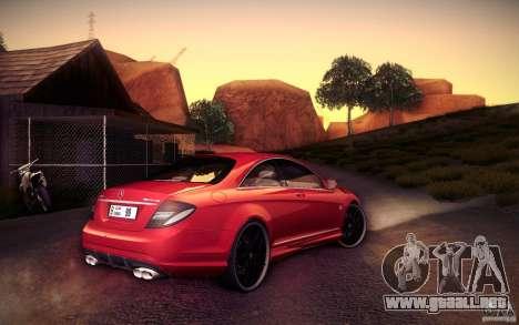 Mercedes Benz CL65 AMG para GTA San Andreas vista hacia atrás