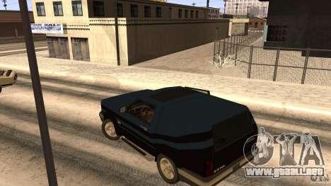 Sandking EX V8 Turbo para GTA San Andreas vista hacia atrás