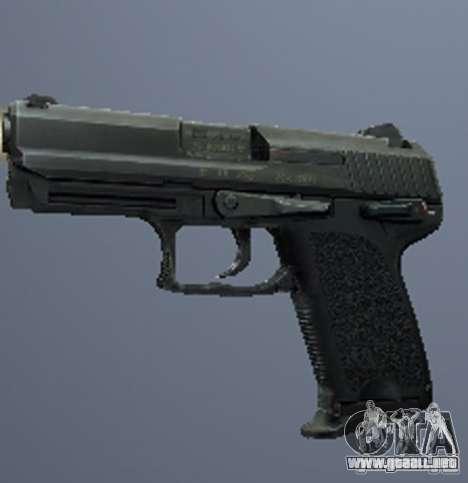Un conjunto de armas de acosador V3 para GTA San Andreas octavo de pantalla