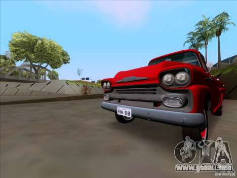 Chevrolet Apache GM 1959 para GTA San Andreas vista posterior izquierda