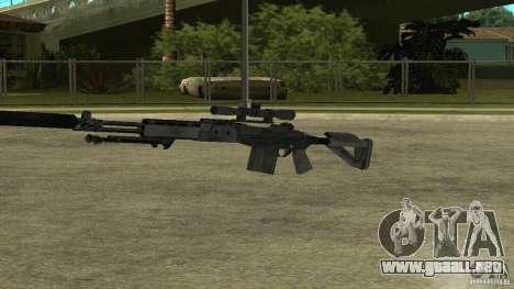 Mk14 EBR con silenciador para GTA San Andreas sucesivamente de pantalla