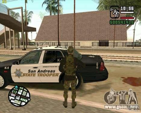 Piel Praice de COD 4 para GTA San Andreas quinta pantalla