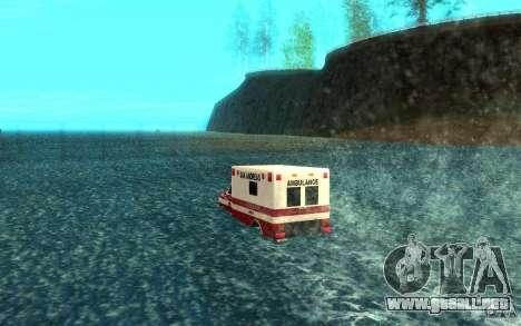 Ambulan boat para GTA San Andreas vista posterior izquierda