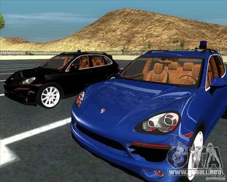 Porsche Cayenne 958 v1.1 para GTA San Andreas vista posterior izquierda
