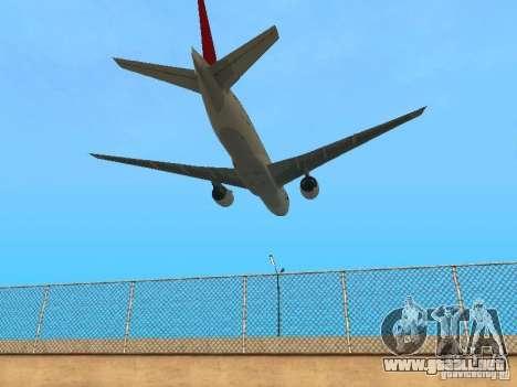 Boeing 777-200 Japan Airlines para GTA San Andreas vista hacia atrás