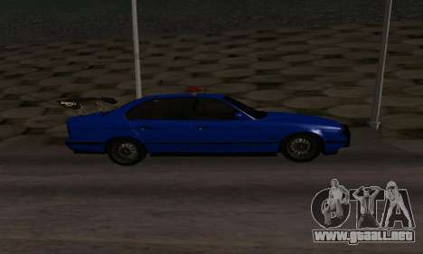 BMW M5 POLICE para GTA San Andreas left