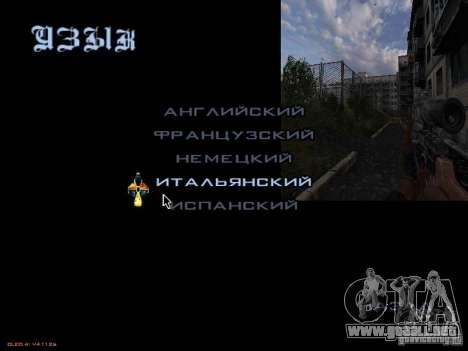 Menú principal-style Stalker para GTA San Andreas sucesivamente de pantalla